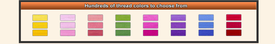 Custom Patch Options and Thread Colors
